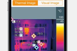 Achten sollte man auch darauf, ob eine Auswertungs-Software oder ‑App für die Wärmebildanalyse und Berichterstellung verfügbar ist.