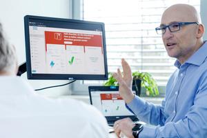 """""""Die neue Grafik von ,Smartlink 2.0' ist viel übersichtlicher, das Programm lässt sich daher wesentlich leichter bedienen"""", sagt Andreas Theis, Produktmarketingmanager Service bei Atlas Copco."""