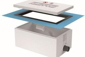 Die Installationsbox kann nun schon ab 90 mm Fußbodenhöhe verwendet werden, indem sie nach Einsetzen in den Estrich einfach mit dem Cuttermesser auf das benötigte Maß gekürzt wird.<br />