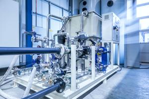 Der von L&R projektierte und gebaute Edelstahl-Wärmetauscher wird an eine vorhandene zentrale Kältemaschine angeschlossen.