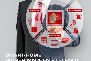 """Sicherheitstechnik und Gebäudeautomation lassen sich mit dem Interface ^""""KNX 400 IP"""" verknüpfen."""