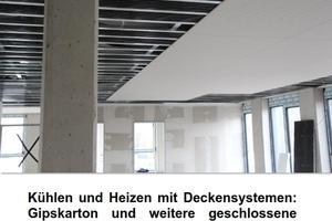 """Titelbild der Richtlinie 15.4 """"Heizen und Kühlen mit Deckensystemen: Gipskarton und weitere geschlossene Deckensysteme"""""""