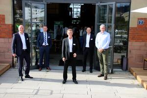 Die Referenten der Veranstaltung in Freiburg (v.l.n.r.): Markus Grimm (Mall GmbH), Dr. Tim Peters (Westfälische Provinzial Versicherung AG), Martin Lienhard (Mall GmbH), Markus Böll (Mall GmbH), Prof. Dr. Heiko Sieker (Ingenieurgesellschaft Prof. Dr. Sieker mbH).