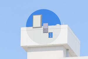 """Mit Verkleidungen aus """"InvisiWave"""" können Sender und Antennen unauffällig verdeckt werden, ..."""