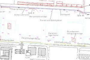 """<div class=""""Bildtitel"""">Funnel &amp; Gate-Anlage </div>auf dem Gelände der SWZ"""