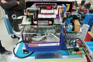 Modell der eingesetzten Turboverdichtermaschine am Anlagenprüfstand