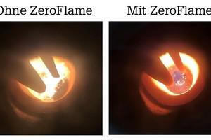 """Mit der """"ZeroFlame""""-Technologie verschwindet die Flamme fast vollständig und reduziert die Feinstaub-Partikelemissionen auf ein Minimum.<br />"""