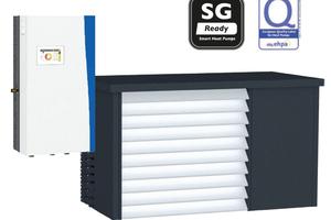 """Die """"Aero Alm""""-Wärmepumpen arbeiten mit Vorlauftemperaturen bis 70°C und sind damit sowohl für Sanierungen als auch für den Neubau geeignet.<br />"""