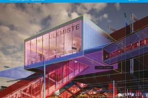 """Das Titelbild von COMPUTER SPEZIAL zeigt das mit der BIM-Software """"Vectorworks"""" geplante Projekt Ülemiste Rail Baltic Terminal."""