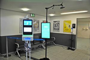 Automatische Erfassung der Personenanzahl und Desinfektion im WC-Bereich des Messegeländes