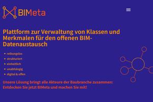 BIMeta ist die einheitliche Sprache der Baubranche und offene digitale Plattform für alle BIM-Klassen und -Eigenschaften.