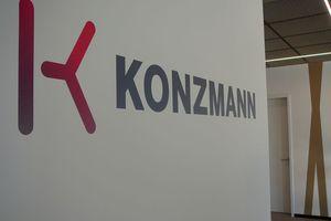 Die Konzmann GmbH belegt eine ganze Etage ...