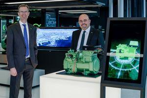 Beide traten ihre neuen Positionen am 1. April 2021 an: Martin Büchsel (links) ist neues Vorstandsmitglied und neuer Chief Sales and Marketing Officer bei Bitzer, und Gianni Parlanti übernahm die Position des Geschäftsführers von Bitzer Italia und Green Point Servizi Industriali.