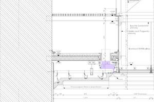 """<div class=""""Bildtitel"""">Planungsdetail der Tageslichtdecke im Telephossaal</div>"""