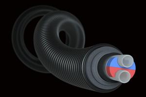 """Dank des innovativen Dämmstoffs verbindet das neue vorgedämmte Rohr """"Ecoflex VIP"""" für Nahwärmenetze eine hervorragende Dämmleistung mit hoher Flexibilität, kleinem Durchmesser und nachhaltigem Design."""