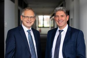 Die beiden Geschäftsführer Wolfgang Eggerl und Bernd Schweitzer schauen optimistisch in die Zukunft.