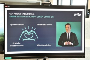 Oliver Hermes, Vorstandsvorsitzender und CEO der Wilo Gruppe, sprach im Rahmen der digitalen Eröffnung des Wiloparks.