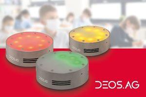Die CO<sub>2</sub>-Konzentration wird direkt am Gerät über das dreistufige Ampelsystem ersichtlich.