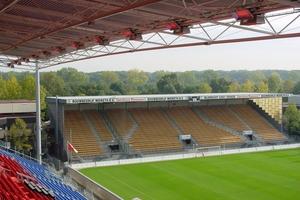 Mit GoGaS-Infrarot Systemen kommt die Wärme direkt zu den Stadiongästen.