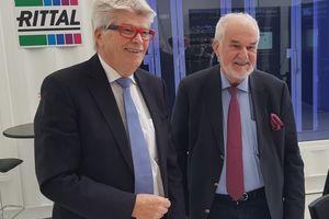 Prof. Friedhelm Loh (links) und Jürgen Stulz: Rittal und Stulz kooperieren weltweit im Bereich passgenauer Rechenzentrums-Infrastrukturlösungen sowie Beratung und Service.
