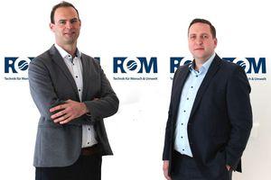 Martin Brüstle (links) und Edwin Baier haben die unternehmerische Verantwortung der ROM Technik-Hauptniederlassung Stuttgart übernommen.