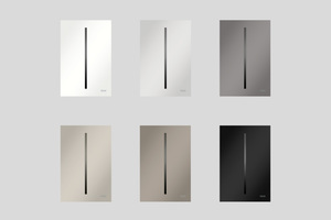 """Passend dazu gibt es die sensorgesteuerte Urinalauslösung """"TECEfilo""""-Velvet mit den """"Fenix NTM"""" in denselben sechs Farbtönen erhältlich."""