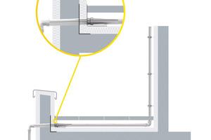 """""""SitaAttika""""-Durchführung """"Fluid"""" für die sichere Entwässerung bei Staffelgeschossen oberhalb der Abdichtung."""