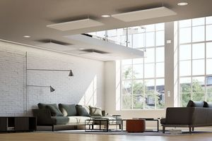 Mit Hilfe von Deckenpaneelen lassen sich die Raumtemperaturen sogar absenken.