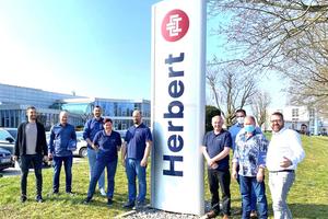 Das Herbert-Kälteteam von Dominik Ludwig (45) Leiter Kältetechnik Anlagenbau und Wartung der Herbert Gruppe, Bensheim
