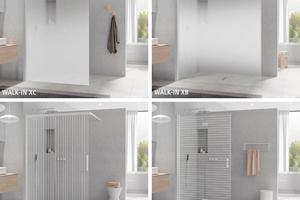 """Die vier Walk-In.Varianten der """"White Line"""" im frischen Weiß Soft-Look"""