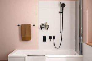 ...lässt sich die Duschbadewanne bis zu 20 cm in den Estrich einlassen.