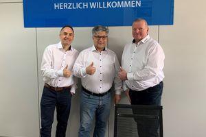 Das Berliner Zewotherm-Team (v.l.n.r.): Ronny Hodecker, Tino Dutschke und Mario Langner