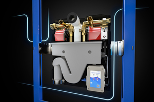 """Die Spülstation """"Motion"""" zeichnet sich durch ihr kompaktes Design und eine hohe Spülleistung von bis zu 15 l/min aus."""