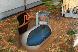 Die Regenwasser-Innenhülle dient in Verbindung mit einer Tauchpumpe als kostengünstige und umweltfreundliche Lösung für die Gartenbewässerung.<br />