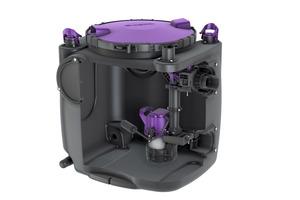 """Die Mono-Variante der Hebeanlage """"Aqualift S 100/200"""" kann mit einer 650-W- oder einer 1.250-W-Pumpe ausgestattet werden."""