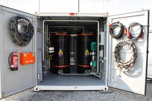 """Trinkwasser-Druckerhöhungsanlage mit 2.000 l Vorlage im Container mit Wilo-""""SiBoost Smart""""-Pumpe"""