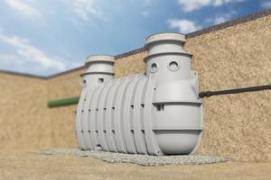 """Der """"ACO LipuLift""""-Fettabscheider zum Erdeinbau mit integrierter Probenahme und Pumpstation in einem einzigen Behälter"""