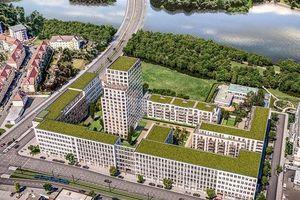 Eine neue Qualität urbanen Wohnens: Die oberen Geschosse des markanten Seetor Towers bieten spektakuläre Ausblicke.