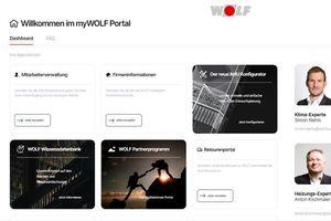 Auf dem myWolf-Portal finden Fachpartner auf einer zentralen Online-Plattform alle digitalen Dienste, die ihre tägliche Arbeit deutlich erleichtern.