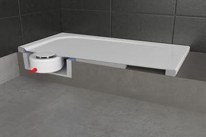 """Bei einem späteren Austausch der Badewanne zum Beispiel gegen eine neue Duschfläche kann die vorhandene """"S-IX""""-Box auch für den Ablauf der Dusche genutzt werden.<br />"""