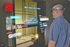Auch die Wartung gebäudetechnischer Anlagen kann mit ins Display eingeblendeten Wartungshinweisen vereinfacht und beschleunigt werden.