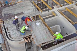 Auf der Baustelle mussten die einzelnen Fertigteildeckenelemente nur noch miteinander verbunden werden.