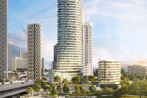"""In den """"Danubeflats"""" in Wien installiert Kone die künftig schnellsten Aufzüge Österreichs in einem Wohngebäude."""