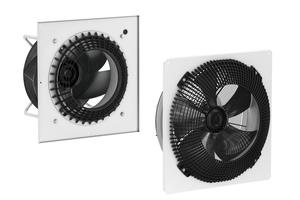 """Das """"FlowGrid"""" eignet sich für Radialventilatoren (links) und Axialventilatoren (rechts)"""