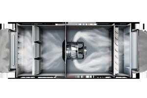 Moderne Radial- und Axialventilatoren arbeiten sehr effizient und leise. Eingebaut in einer Anwendung wird sich ihr Verhalten jedoch verändern. Klappen und Filter können den Luftstrom behindern, und auch der Abstand zu Wänden und Wärmetauschern sowie der Einsatz von Schutzgittern wirken sich aus.