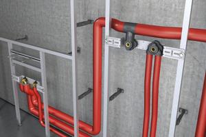 Der Roth-Thermoentkoppler verhindert den Wärmeübergang von warmem Trinkwasser auf die Entnahmearmatur und die anschließende Wärmeleitung auf das kalte Trinkwasser.