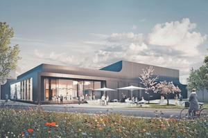 """Das """"Schüco Welcome""""-Forum soll 2022 fertiggestellt werden und wird zur ersten Anlaufstelle für Besucher des Unternehmens."""