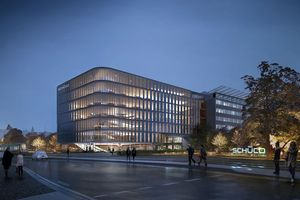 """Im Jahr 2021 soll der vom Kopenhagener Architekturbüro 3XN geplante """"Schüco One""""-Neubau am Stammsitz in Bielefeld fertiggestellt werden."""