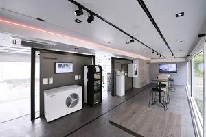 Mit dem mobilen Showroom bringt Stiebel Eltron Haustechniklösungen direkt zu Planern, Architekten und Fachhandwerkern.