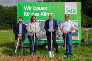 Bauherren (v.l.n.r.): Markus Knöpfle, Beate Schmidt-Menig, Landrat Martin Sailer, Lothar Tomaschko